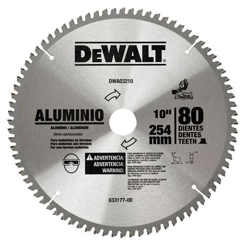 """Disco Sierra para Madera y Aluminio de 10""""x 80 dientes"""
