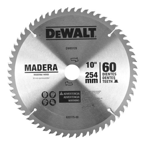 "Disco Sierra para Madera de 10"" (60)"