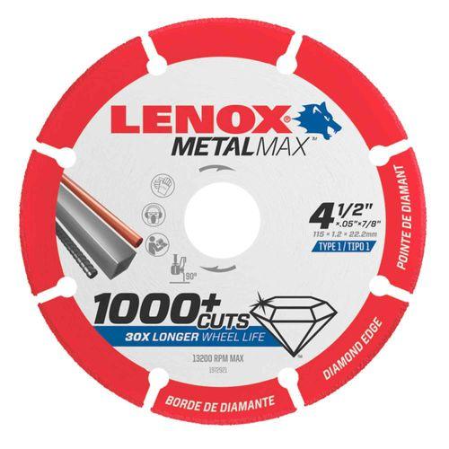 Disco de corte de diamante  4-1/2 Pulgadas x 1.2mm x 7/8 Pulgadas Lenox