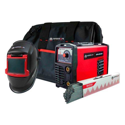 Combo Máquina de Soldar MW-ARC200  + 5kg de electrodo + Careta + Maleta