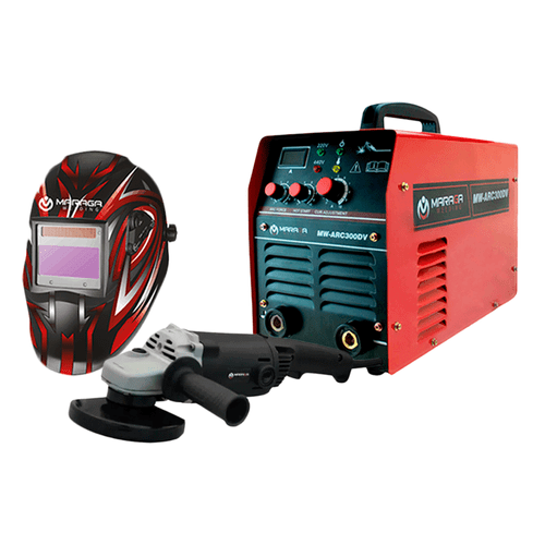 Combo Soldadora MW-ARC300DV + Esmeriladora 1,200W + Careta electrónica