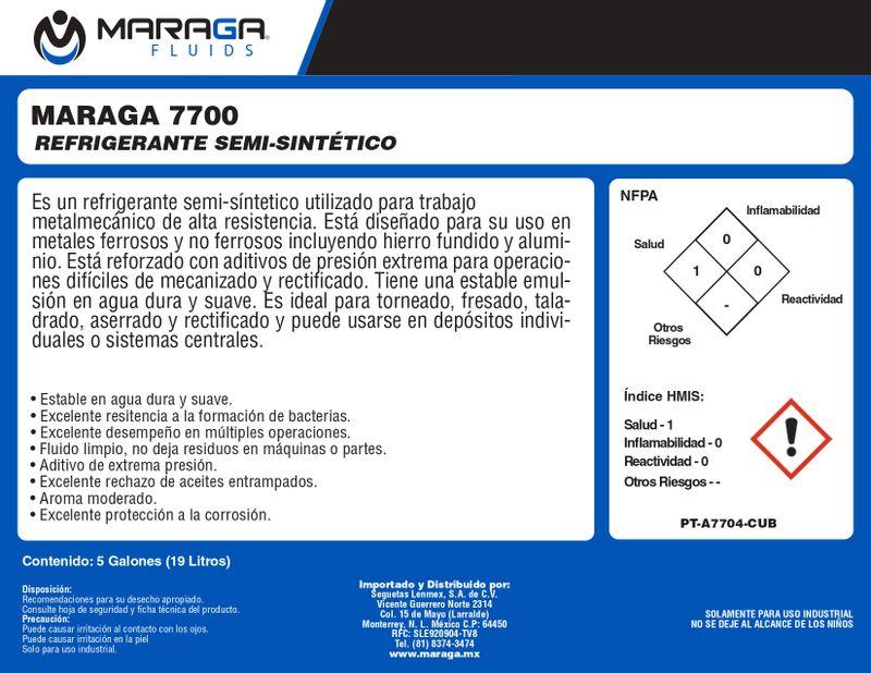 Etiqueta-Refrigerante-7700