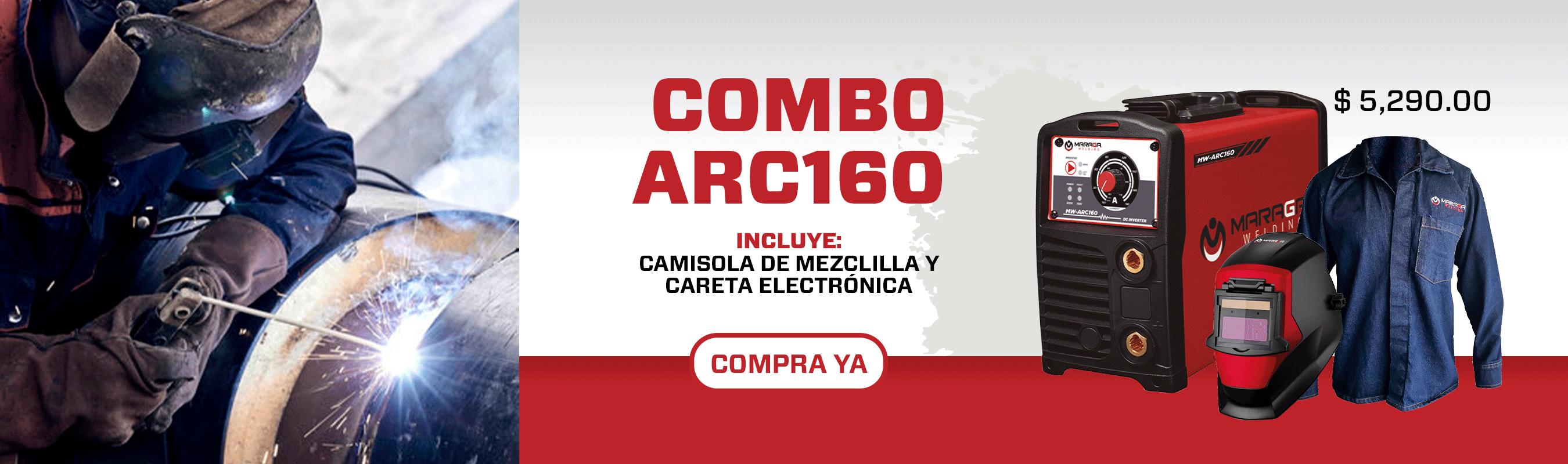 Combo Soldadora ARC160 + Camisola de Mezclilla + Careta